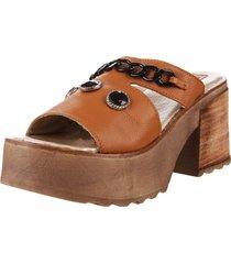 sandalia de cuero suela valentia cheran