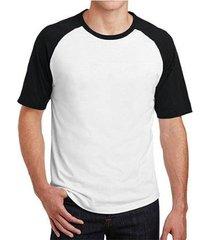 camiseta raglan básica lisa masculina - masculino