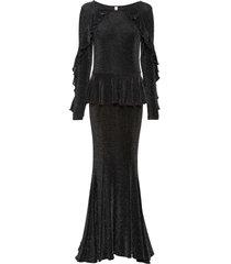 abito lungo in lurex (nero) - bodyflirt boutique