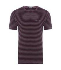 t-shirt 1/2 malha listrada c/ tingimento a seco