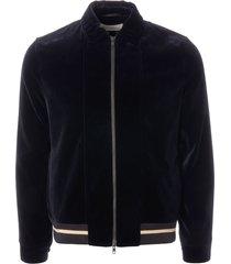 oliver spencer bailey bomber jacket - velvet navy osmj299