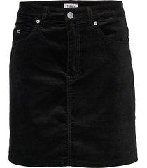 tjw short velvet skirt kort kjol svart tommy jeans