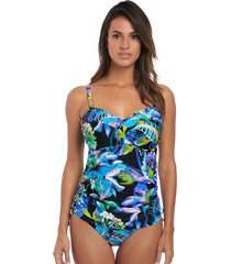 paradise bay tropical underwire twist front tankini top