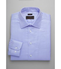 jos. a. bank men's reserve collection slim fit spread collar herringbone dress shirt, blue, 16 1/2x32