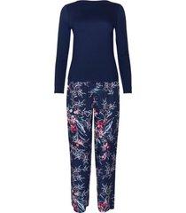 pyjama's / nachthemden lisca pyjama's binnenshuis dragen topbroek met lange mouwen harper