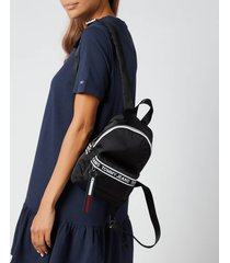 tommy jeans women's mini logo tape backpack - black