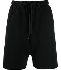 duoltd studded-pocket track shorts - black