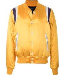 amiri varsity baseball bomber jacket - yellow