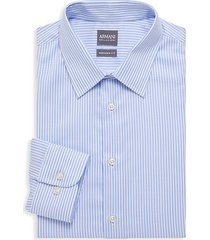 modern-fit striped cotton dress shirt