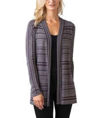 black label women's plus size metallic stripe long sleeve cardigan