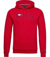basic hilfiger hoody hoodie trui rood tommy hilfiger