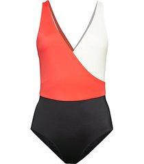 ballerina colorblock one-piece swimsuit