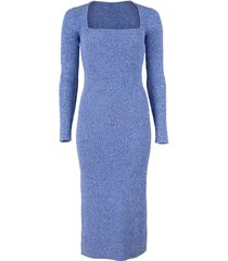 ribbed rayon knit fitted dress