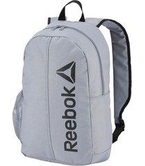 mochila gris reebok act core backpack