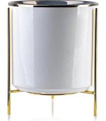 kwietnik metalowy osłonka ceramiczna bianca 24 cm