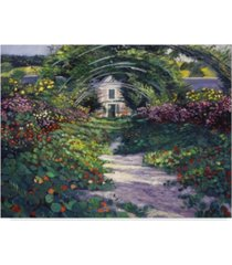 "david lloyd glover 'the grande alle giverny' canvas art - 19"" x 14"""