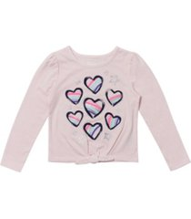 epic threads toddler girls long sleeve tie front graphic tee