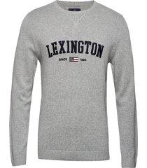 nelson knitted sweatshirt sweat-shirt trui grijs lexington clothing
