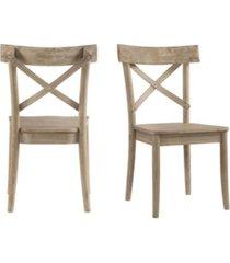 picket house furnishings keaton x-back wooden side chair set