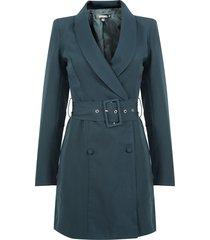 vestido blazer missguided corto verde - calce regular