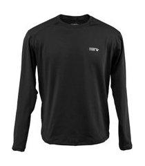 blusa térmica masculina segunda pele thermo premium original regular fit - preto