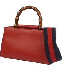 borsa donna a mano shopping in pelle mini nymphaea bamboo