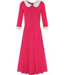 sukienka z kołnierzykiem bebe różowa