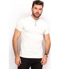 camiseta polo linho teodoro masculino slim casual conforto - masculino
