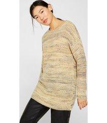 sweater jaspeado con lana y alpaca amarillo esprit