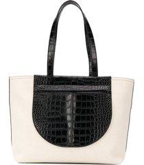 tod's paneled shoulder bag - black