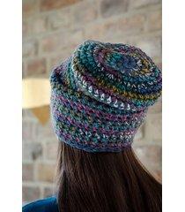crazycolor czapka szara/kolor