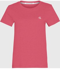 polera calvin klein jeans mc rosa - calce slim fit