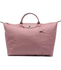 longchamp large le pliage travel bag - pink