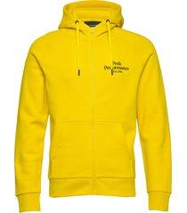 m original zip hood hoodie trui geel peak performance
