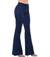 jeans tiro alto high waist flare 3144 azul amalia jeans