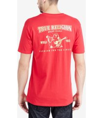 true religion men's metallic logo graphic-print t-shirt