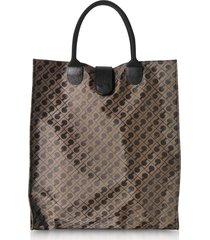 gherardini designer handbags, signature coated canvas softy foldable tote bag