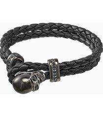braccialetto fran, pelle, nero