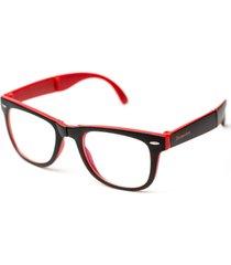 4d5e8317a1562 armação de óculos thomaston dobrável preto e vermelho