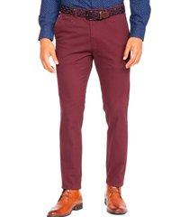 pantalón semi formal rojo guy laroche