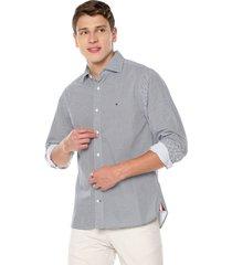 camisa azul-blanca tommy hilfiger
