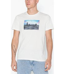 jack & jones jorsilent tee ss crew neck t-shirts & linnen vit