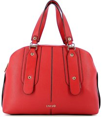 liu jo designer handbags, red bowler bag