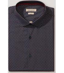 camisa formal estampada navy perry ellis