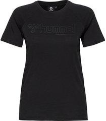 hmlzenia t-shirt s/s t-shirts & tops short-sleeved svart hummel