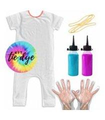 macacáo comfy kit tie dye pra fazer em casa