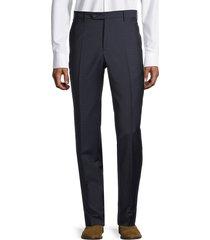 zanella men's flat-front wool pants - blue - size 38