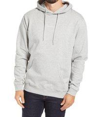 nn07 barrow 3385 slim fit hoodie, size xx-large in light grey melange at nordstrom