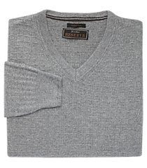jos. a. bank v-neck textured knit men's sweater - big & tall clearance