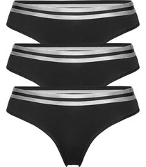 organic cotton thong by pernille blume 3 pack stringtrosa underkläder svart danish endurance